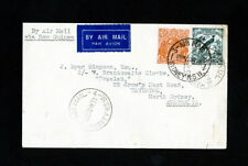 New Guinea Cover Rare Air Mail w/ 2x stamps 3x cancels