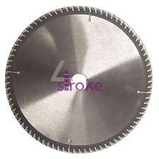 """250mm (10"""") 80 dents aluminium lame de scie circulaire 30mm alésage 25.4mm anneaux mitre"""