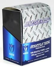 Max Protection Shuffle-Tech Sleeves and Deck Box 100 Blue & Perfect Fit Sleeves