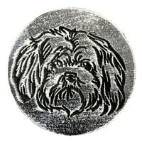 """Maltese Dog puppy plaque mold plaster concrete resin craft mould 7.75"""" x 3/4"""""""