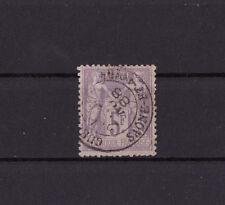 timbre France  Sage   5f   violet sur lilas    num: 95  oblitéré