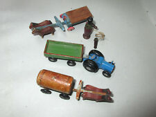 Erzgebirge 3 trucks putz toy age about 1935-40 very good