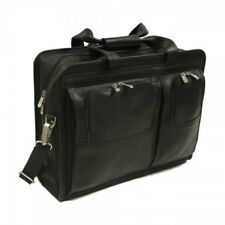 Piel Professional Computer Portfolio Briefcase - Black Leather - NEW w/TAGS