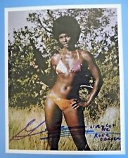 """JAMES BOND """"LIVE AND LET DIE"""" BOND GIRL~GLORIA HENDRY~IN PERSON SIGNED PHOTO"""