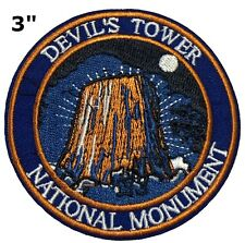 Devil'S Tower National Monument Embroidered Patch Iron Sew-On Souvenir Applique