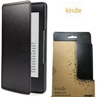 GENUINE Amazon Kindle 5th Gen Leather Case Cover For Kindle With Flip Black