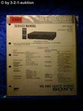 Sony Service Manual SLV 656 / 656VP Video Recorder  (#2351)