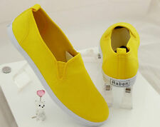 Raben Shoes Canvas Slip On - Yellow -Size From 35 to 46