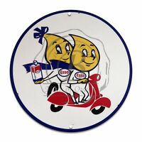 Vintage Design Sign Metal Decor Gas and Oil Sign - Esso Motor Oil and Gasoline