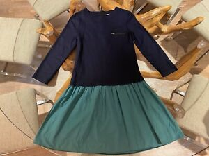 $385 AUTH BONPOINT GIRLS RARE STUNNING BOHO PARISIAN STYLE WINTER DRESS XS 10-12