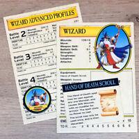 Classic Warhammer Quest Wizard Cards Equipment & Token Games Workshop 1995