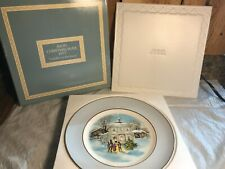 Vintage 1977 Avon Christmas Collector Plates ~ Carollers in the Snow w/Box