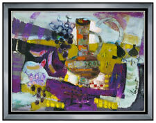 James Coignard Original Oil Painting On Canvas Signed Large Still Life Artwork