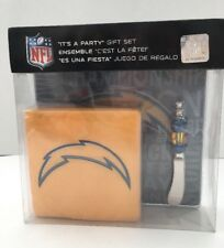 Los Angeles Chargers It's a Party Gift Set NFL Napkin Knife Spreader Glass Plate