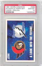 1991 Score Canadian Ottawa/Tampa Bay Logos (#386) PSA10 PSA