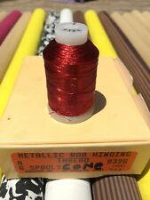 Gudebrod Metallic Fishing Rod Winding thread  Size A, Color Red Electra  9326...