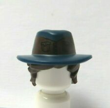Lego 1 Minifigure Brown Tousled Hair Wig & Dark Blue Hat Cowboy Ranger Soldier