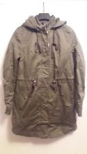 Ladies H&M Divided Dept army green hooded long Jacket Parka size 6 BNWT $49.99