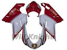 Injection Fairing Kit for Ducati 848 1098 1198 2007 2008 2009 2010 2011 White Re
