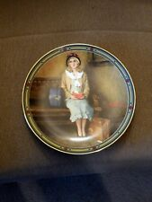 """Edwin M Knowles China Co Norman Rockwell Collector Plate """"A Young Girls Dream"""""""