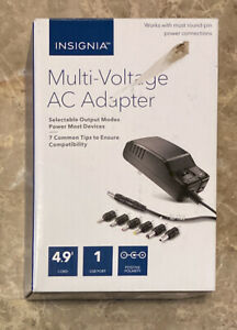 Insignia AC to DC Power Adapter with 7 Connector Tips NS-AC1200 Ships Free!