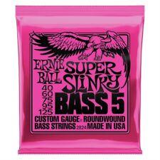 """""""Ernie Ball 2824 5-String Super Slinky Nickel Wound Bass Set, .040 - .125"""""""