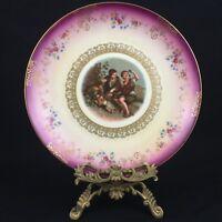 Vtg Decorative Plate by Mitterteich Gold Embellished Children Bavaria Germany