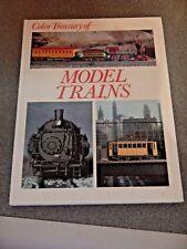 COLOR TREASURY OF MODEL TRAINS  VINTAGE 1972