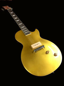 NEW 56' VINTAGE GOLD TOP 6 STRING LP STYLE ELECTRIC GUITAR-P-90 MAH BODY & NECK