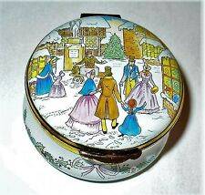 Crummles Enamel Box - Harrods Christmas 1988 - Village Town Square