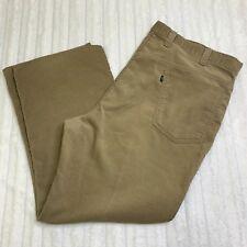 Vtg Levi'S Big E Corduroy Khaki Pants 546 Size 42 Gentleman's Jeans Talon Zipper