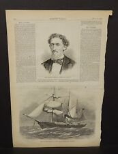 "Harper's Weekly 1 Pg ""Polaris"" Expedition Will Carleton Author  1873 B14#75"