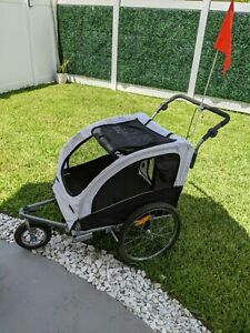 Pet Bicycle Trailer Dog Cat Bike Carrier w/ Drawbar Hitch Stroller