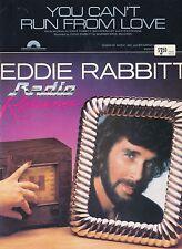 Vous ne pouvez pas lancer de l'amour-Eddie Rabbitt - 1982 Sheet Music