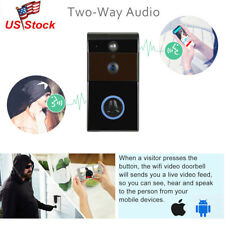 WiFi Wireless Visual Doorbell Remote Phone Security 720P Camera Recording Alarm