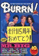 Burrn! Heavy Metal Magazine October 1999 Japan Mr. Big Scorpions Motley Crue