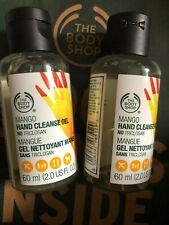 body shop 2x  hand cleanser mango brand new 60ml over 70% alcohol.