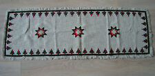 Vintage Christmas Hand – embroidered decorative Table runner w/ Xmas tree