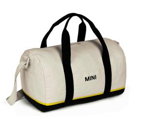 MINI GENUINE TRICOLOUR BLOCK DUFFLE BAG - BLACK / WHITE