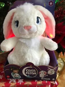 """NEW Netflix's Over the Moon LIGHT-UP Bungee Bunny Plush Doll 12"""" FAST SHIPPING"""