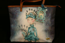 Santoro Gorjuss Ladies bag Peacock design blue new with tags.