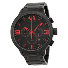 ARMANI EXCHANGE ATLC CHRONOGRAPH BLACK DIAL BLACK ION PLATED WATCH NWT MSRP $220