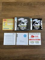 Pokemon Black Version Nintendo DS Case, Inserts Manual Only *NO GAME* Authentic