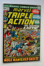 Marvel Triple Action #6 (MCG 10/72) VF+ Avengers/'This Hostage Earth!' Nice!!