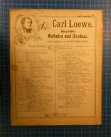 Carl Loewe - Balladen und Gesänge `` Goldschmieds Töchterlein`´  B-24242