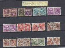 Switzerland Tete-Beche used selection of 12 different. CV 177 SFr = ~$200