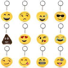 Nuovo Emoji Icon Emoticon Chiave Catena Portachiavi Giallo Rotondo Stuffed Plush