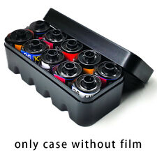 Hard Plastic Film Storage Box Case Container For 10 rolls 135 Film without film