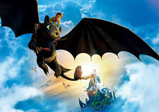 How To Train Your Dragon Toothless A4 Poster Print 260gsm