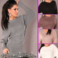 SEXY WOMEN LONG SLEEVE KNITTED JUMPER DRESS LADIES CASUAL KNITTED SWEATER AU TOP